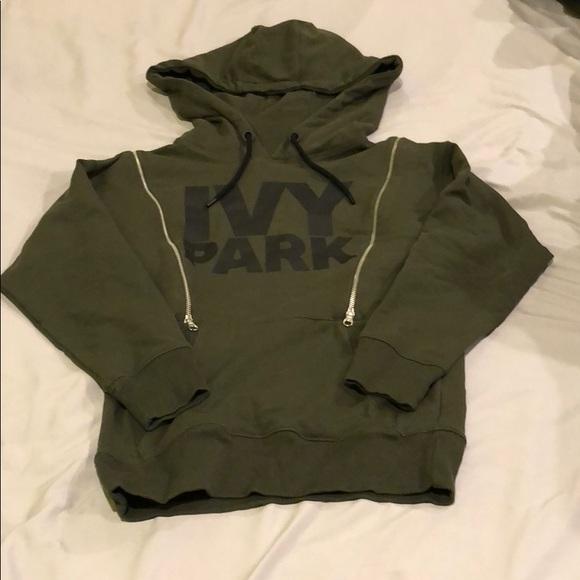 7aee85b658aafd IVY PARK Tops - Ivy Park Olive Green Double Zip Hoodie (XS)